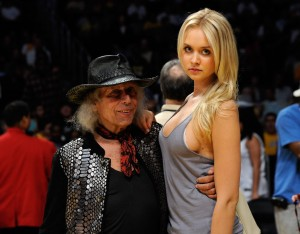 James Goldstein with a friend attending a Los Angeles Lakers game